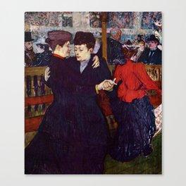"""Henri de Toulouse-Lautrec """"Two Woman Waltzing"""" Canvas Print"""
