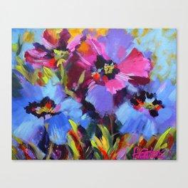 Wild Blue Poppy Garden Canvas Print