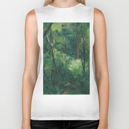 1880 - Paul Cezanne - Interior of a forest Biker Tank