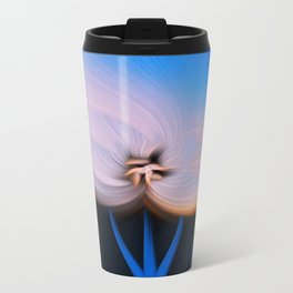 Modern Flower Twirl Travel Mug