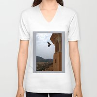 wings V-neck T-shirts featuring Wings by Nyay Bhushan