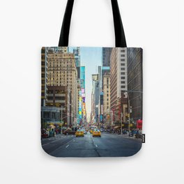 Sunset on 7th Avenue Tote Bag