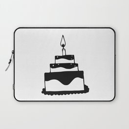 Monochrome birthday cake Laptop Sleeve