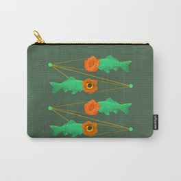 fishes and flowers color option Carry-All Pouch