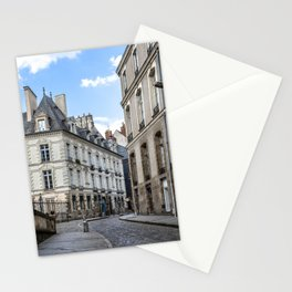 Old town street of Rennes Stationery Cards