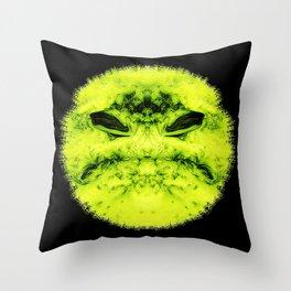 bad smiley Throw Pillow