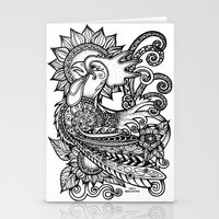 rooster Stationery Cards featuring Rooster by MotherSpoon