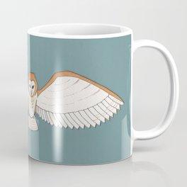 Barn Owl in Teal Coffee Mug