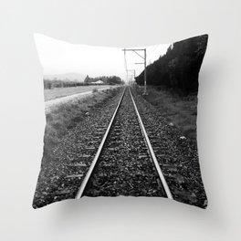 """Tracks"" Throw Pillow"