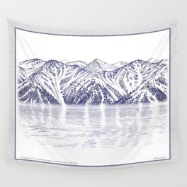 TURNAGAIN ARM AND THE CHUGACH RANGE ON THE COOK INLET ALASKA Wall Tapestry