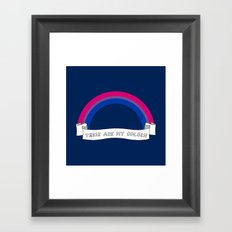 Bi pride rainbow Framed Art Print
