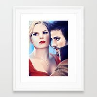 captain swan Framed Art Prints featuring Captain Swan by Faerytale-Wings
