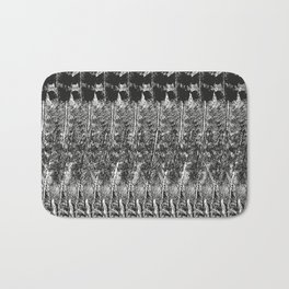 Feather Pattern   Bird Feathers   Black and White   Bath Mat