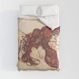 """Egon Schiele """"Auf dem Bauch liegender weiblicher Akt"""" Comforters"""