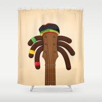 reggae Shower Curtains featuring Reggae by Emir Simsek