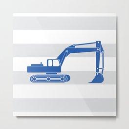 excavator blue Metal Print