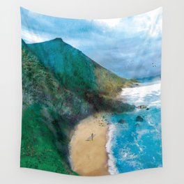 Wild Beach Wall Tapestry