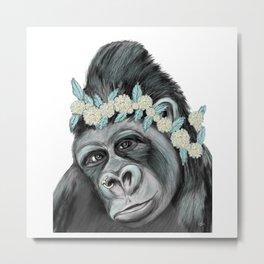 Lovely Gorilla Metal Print