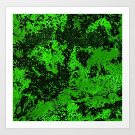 Galaxy in Green Art Print