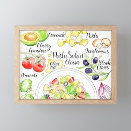 Italian food pasta salad Framed Mini Art Print