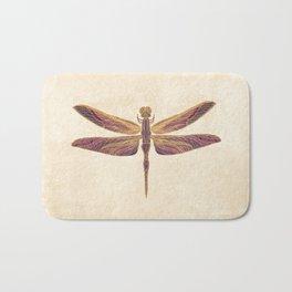 Art Nouveau Dragonfly In Purple Bath Mat