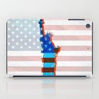 patriots iPad Cases featuring statue of liberty / USA by Marta Olga Klara