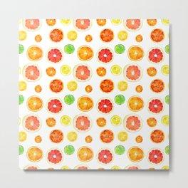 Citrus pattern Metal Print