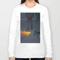 korra Long Sleeve T-shirts featuring Korra Fighting  by Paula Urruti