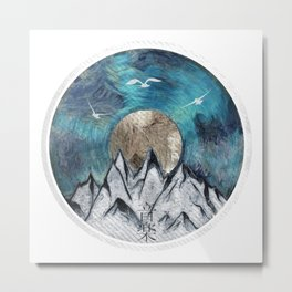 The Sound Of Nature - Blue Metal Print