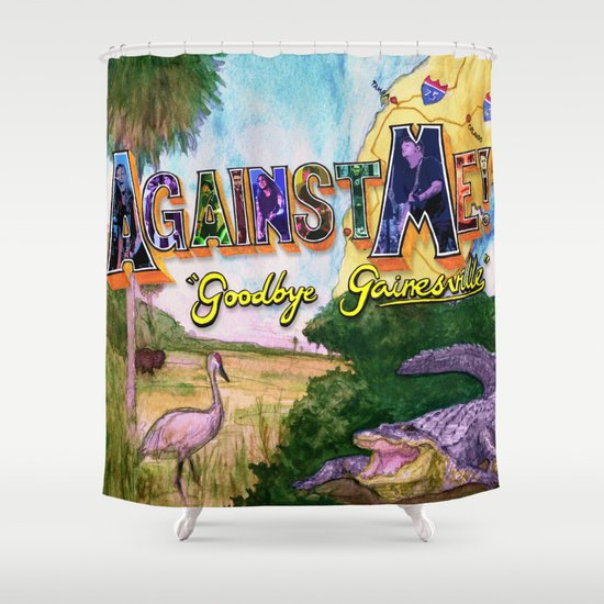 """Goodbye Gainesville"" by Cap Blackard Shower Curtain"