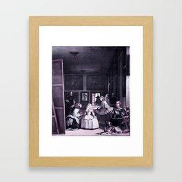 Las Meninas by Diego Velazquez -  infrared version Framed Art Print