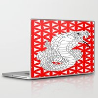 fierce Laptop & iPad Skins featuring fierce snake by Dal Sohal