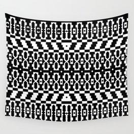 Geo Pixel Tile Pattern Wall Tapestry