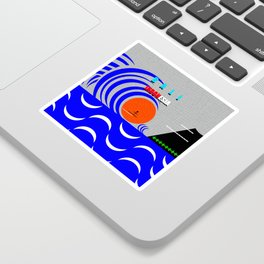 Bali Indonesia surfing design A Sticker