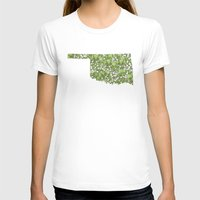 oklahoma T-shirts featuring Oklahoma in Flowers by Ursula Rodgers