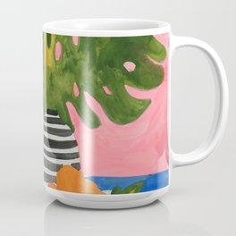 Pink Wall Monstera Coffee Mug