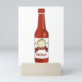 Cat in Hat Picante Hot Sauce Mini Art Print