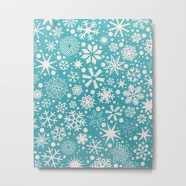 Snow blue Metal Print