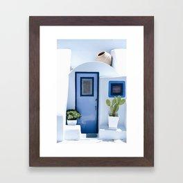 Doors of Santorini Framed Art Print