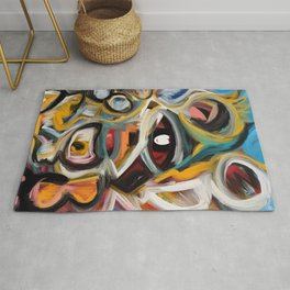 Eye of the Storm Art Expressionism Abstract Rug