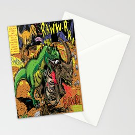 Space Chick & Nympho: Vampire Warrior Party Girl Comix #1- Tyrano the Dinosaur-God  in Comic Page  Stationery Cards