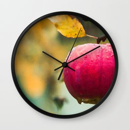 Apples in the fall Wall Clock