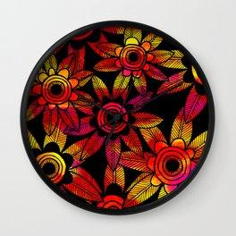Big Floral 1 Wall Clock