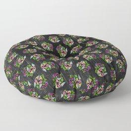 Min Pin Day of the Dead Miniature Doberman Pinscher Sugar Skull Dog Floor Pillow