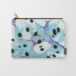 Blue Pebbles with Black Carry-All Pouch