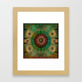 """Daisy Woman (Red Daisy, pattern)"" Framed Art Print"