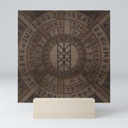 Web of Wyrd The Matrix of Fate- Wooden Texture Mini Art Print