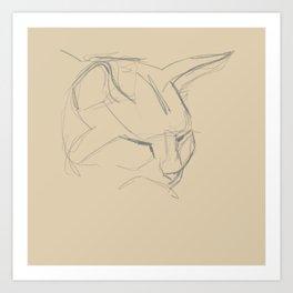 Cat Study from Life Art Print