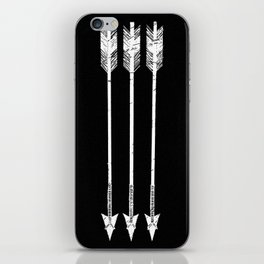 Arrows Black and White iPhone Skin