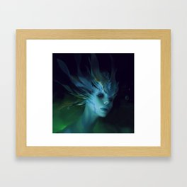 Mermaid portrait Framed Art Print
